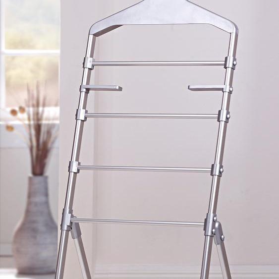 Garderobenständer, grau, Material Aluminium / Kunststoff, Ruco