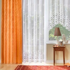 Gardine 175 cm, Smokband, 600 cm weiß Wohnzimmergardinen Gardinen nach Räumen Vorhänge