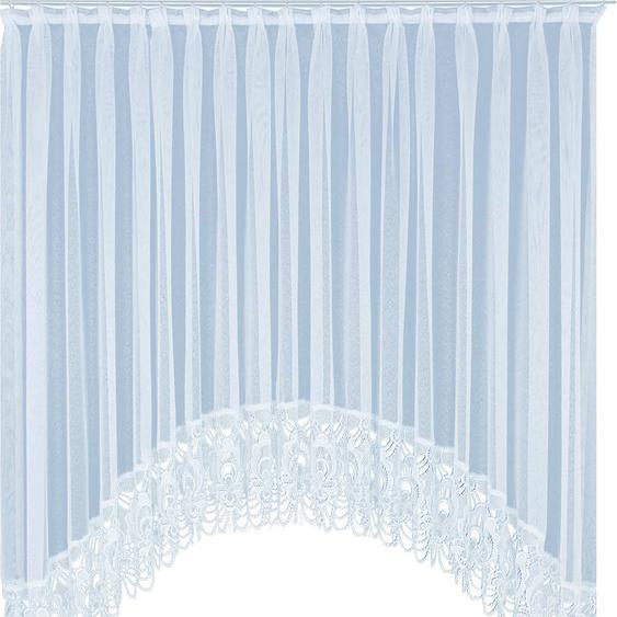 Gardine, Elena, Wirth, Faltenband 1 Stück 8, H/B: 145/750 cm, halbtransparent, weiß Schlafzimmergardinen Gardinen nach Räumen Vorhänge Gardine