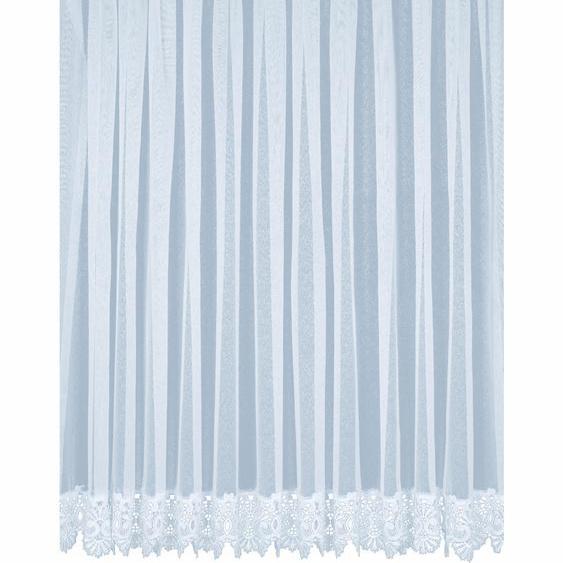 Gardine, Elvira, Wirth, Faltenband 1 Stück 16, H/B: 225/750 cm, halbtransparent, weiß Schlafzimmergardinen Gardinen nach Räumen Vorhänge Gardine