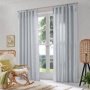 Gardine »Lazy«, Home affaire, Schlaufen (2 Stück), Vorhang, Fertiggardine, halbtransparent