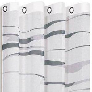 Gardine »LIOBA«, Happy Home, Ösen (1 Stück), HxB: 245x140, modern bedruckter Ösenschal