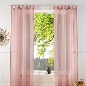 Gardine »REGINA«, my home, Schlaufen (2 Stück), Vorhang, Fertiggardine, transparent