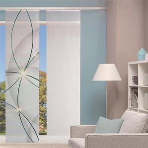 Gardine »Vision S Schiebevorhang Digitaldruck Bambus-Optik«, HOME WOHNIDEEN