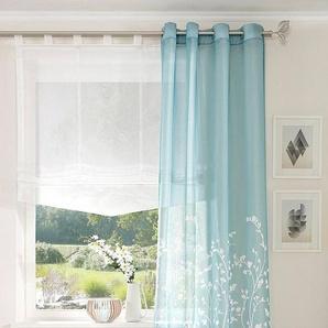 Gardine »Yalinga«, my home, Ösen (1 Stück), Vorhang, Fertiggardine, transparent
