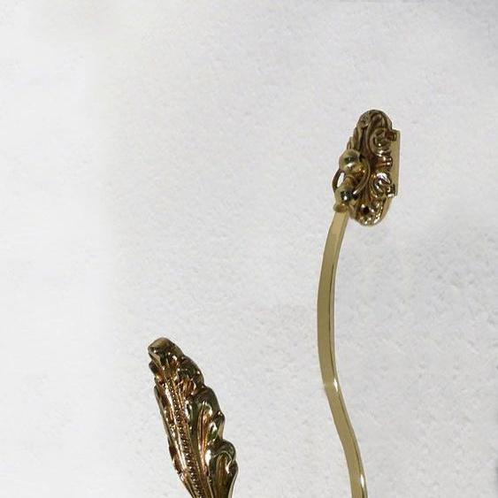 Gardinenhaken Bordeaux, indeko, passend für Vorhänge Gardinen Einheitsgröße goldfarben Zubehör Gardinenbefestigungen