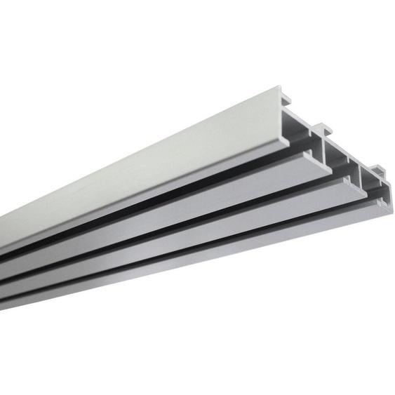 Gardinenschiene »Flächenvorhangschiene 3-läufig«, GARDINIA, (1-St), Fixmaß, Serie Flächenvorhang Technik Atlanta