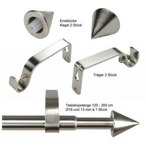 Gardinenstange »Kegel Ø 16/13 mm«, Liedeco, Ø 16 mm, 1-läufig, ausziehbar