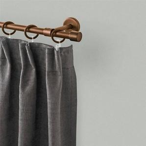 Gardinenstange »Rustika Kappe«, GARESA, Ø 16 mm, 1-läufig, Wunschmaßlänge, Lieferumfang Ringe: Je 10 cm einen Ring