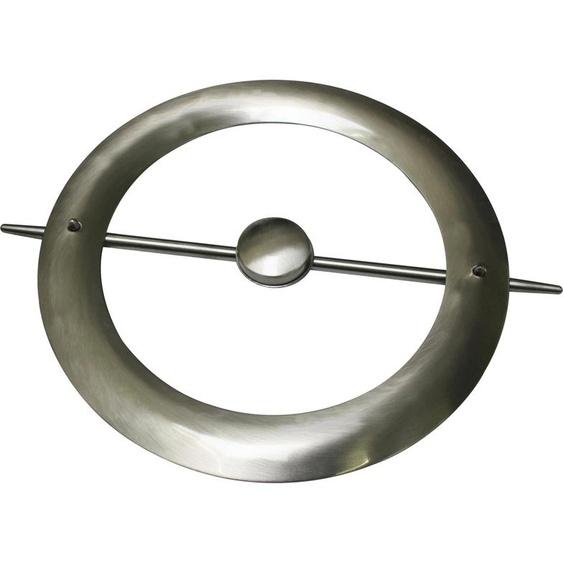 GARDINIA Dekoklammer Dekoring mit Stab und Magnet Ø 18 cm silberfarben Raffhalter Zubehör für Gardinen Vorhänge