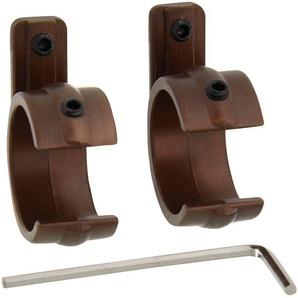 Gardinia Gardinenstangen-Ringadapter Metall bronzefarben Ø 20 mm 2 Stück