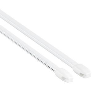 Gardinia Vitragestangen weiß 100 - 160 cm 2 Stück