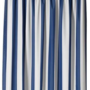 Gardisette Vorhang Duo 225 cm, Kräuselband, 140 cm blau Wohnzimmergardinen Gardinen nach Räumen Vorhänge