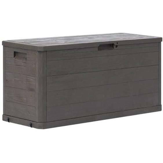 Garten-Aufbewahrungsbox 280 L Braun