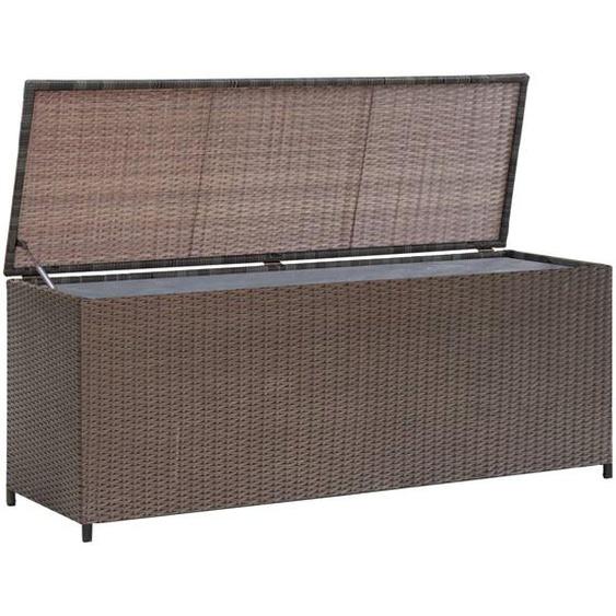 Garten-Aufbewahrungsbox Braun 120x50x60 cm Poly Rattan