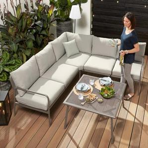 Garten-Dining-Lounge-Set - hellgrün -