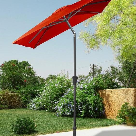 garten gut Sonnenschirm, LxB: 160x230 cm, abknickbar, ohne Schirmständer