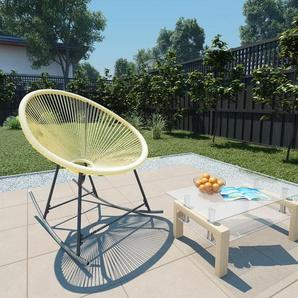 Outdoor-Acapulco-Stuhl Poly-Rattan Beige