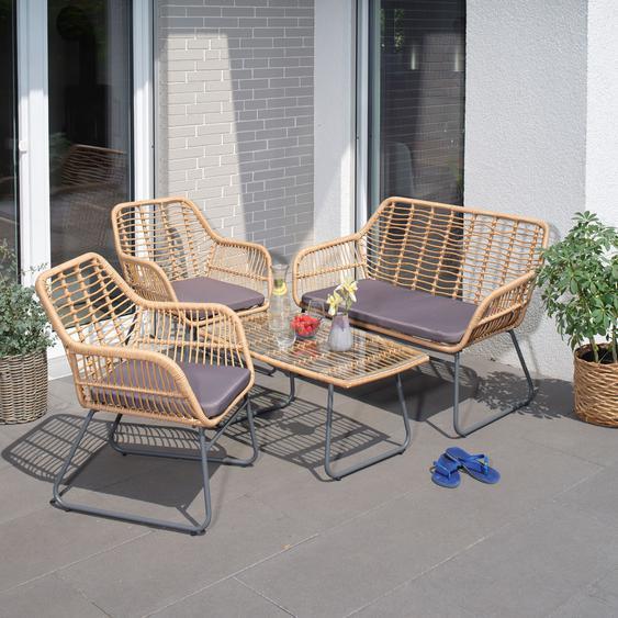Garten Sitzgruppe Kilsund, Sofa+2 Sessel