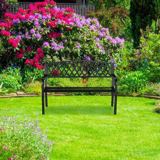 Gartenbank aus Stahl und Gusseisen Winnie