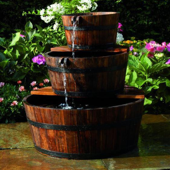 Gartenbrunnen Brinks aus Holz und Kunststoff