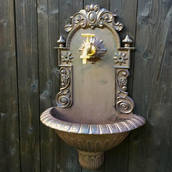 Gartenbrunnen, Handwaschbecken mit Gartenschlauch Anschluss, Waschbecken Garten