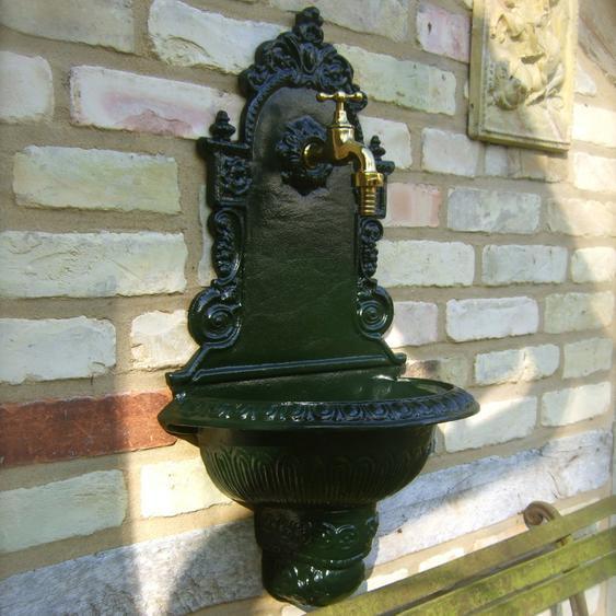 Gartenbrunnen, Wandbrunnen, Wasserzapfstelle Waschbecken, Aluminium hochwertig
