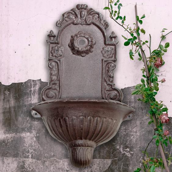 Gartenbrunnen, Wandbrunnen, Wasserzapfstelle Waschbecken, Gusseisen
