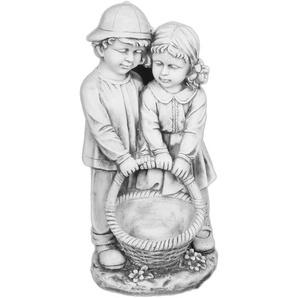 Gartenfigur Junge und Maedchen