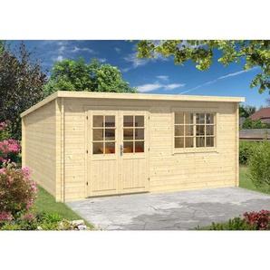 Gartenhaus aus Holz Atrium-40 A , ohne Imprägnierung , ohne Farbbehandlung , Imprägnierung ab Werk:ohne Imprägnierung