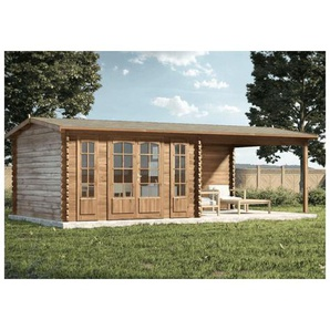 Alpholz - Gartenhaus aus Holz Freiburg-44 ISO , mit Imprägnierung , Ohne Schutz-Imprägnierung:Mit Imprägnierung (Pinie)|Auswahl der Tür:Mit Doppeltür