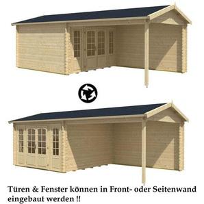 Alpholz - Gartenhaus aus Holz Freiburg-44 ISO , ohne Imprägnierung , ohne Farbbehandlung , Ohne Schutz-Imprägnierung:Ohne Schutz-Imprägnierung|Auswahl der Tür:Mit Doppeltür