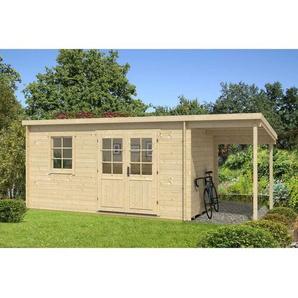 Carlsson - Gartenhaus aus Holz York mit Schleppdach , ohne Imprägnierung , Ohne Schutz-Imprägnierung:Ohne Schutz-Imprägnierung|Wandstärke:40 mm Wandstärke