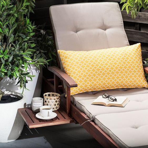 Gartenkissen gelbes Muster 40 x 70 cm