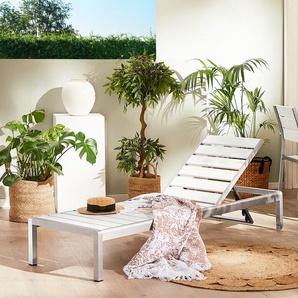Gartenliege Kunstholz weiß NARDO