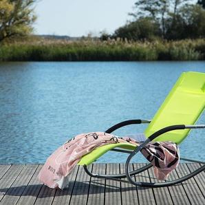 Gartenliege limettengrün Textilene Schaukelfunktion CARANO