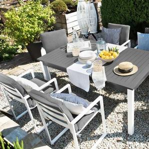 Gartenmöbel Set Aluminium dunkelgrau 6-Sitzer PANCOLE