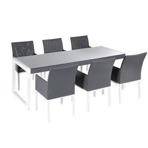 Gartenmöbel Set Aluminium grau 6-Sitzer BACOLI
