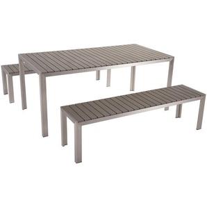 Gartenmöbel Set Kunstholz grau 8-Sitzer NARDO