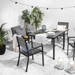 Gartenmöbel Set Kunstholz grau 4-Sitzer PRATO