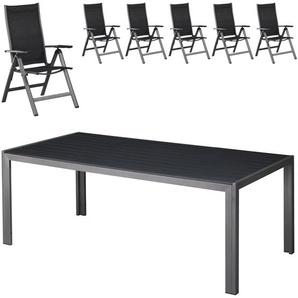 Gartenmöbel-Set Las Vegas (100x205, 6 Stühle)