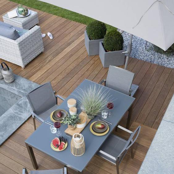 Gartenmöbel Set, Silber, Edelstahl