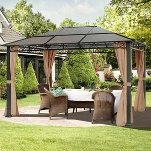 Gartenpavillon Hardtop Rendezvous Deluxe cappuccino, 3x4m