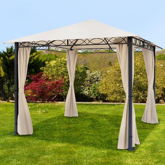 Gartenpavillon Rendezvous Premium champagnerfarben, 3x3m