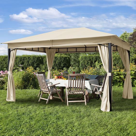 Gartenpavillon Sunset Classic champagner, 3x4m