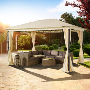 Gartenpavillon Sunset Vintage champagnerfarben, 3x4m