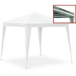Gartenpavillon weiß 300 x 300 cm