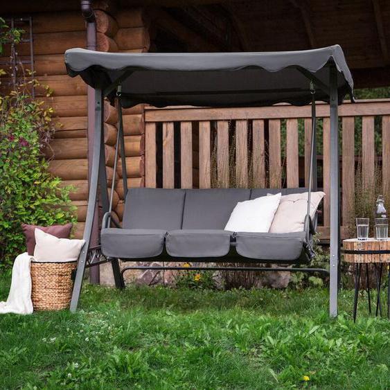 Gartenschaukel Sonnendach grau GARBO