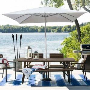 Gartenschirm 3x3 Sonnenschirm Alu Mittelmast quadratisch Café Hotel MARTE | ohne Volant - ELIOS PARASOLS