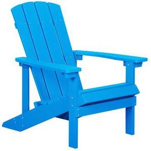 Gartenstuhl blau Kunstholz ADIRONDACK